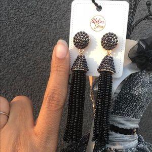 Atelier Sona Jewelry - Beautiful Beaded Drop Earrings Silver Base